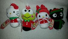 Lot new Hallmark Keroppi Hello Kitty Itty Bitty Plush Christmas chococat melody