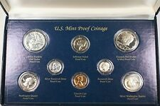 US Mint Proof Coin Set 8 Coins 3 are Silver Franklin Roosevelt Washington in Box