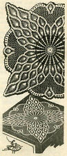 Vintage 1960s Crochet PATTERN 7363 TV cover Pineapple Doily 21 24 or  40 inches