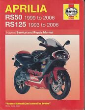 APRILIA RS50 ( 1999 - 2006 ) & RS125 ( 1993 - 2006 ) SERVICE & REPAIR MANUAL