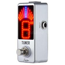 Mini Chromatic Tuner Pedal Effect LED Display True Bypass for Guitar Bass S7D9