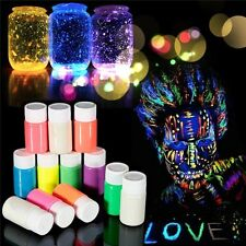 12x  Face, Body Paint Fluorescent Glow in the Dark UV Halloween, Party, Disco