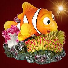 Aquarium-Deko ❤️ NEMO BEWEGLICH ❤️ mit Luftanschluss Koralle  Dekoration Zubehör