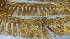 1 Yard Gold Lace Trim Fringe Tassel Tassle Curtain Piping Trim 2.25 Inches Wide