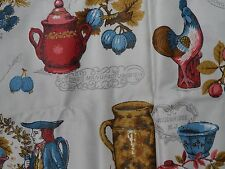 Waverly Bonded Fabric Pottery and Porcelain  100% Combed Cotton Everbrite Dyes
