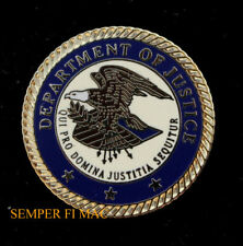 DEPARTMENT OF JUSTICE SEAL HAT PIN US WOW