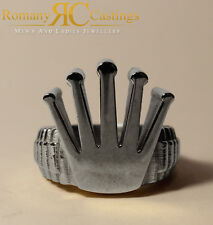 Men's Highly 925 Stering Silver Crown Design Ring 27.2 grams Approx
