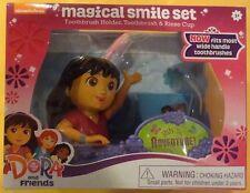 Dora The Explorer Magical Smile Set Toothbrush Holder Set New