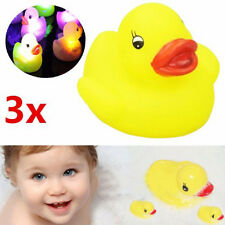 3x Baby Bath Bathtime Toy Multi Color Changing LED Lamp Light Yellow Duck Gift