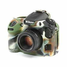 Camera silicone cover for Nikon D800/D800E Camouflage + Screen Protectors.