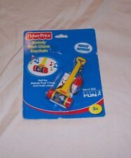 FISHER PRICE  KEYCHAIN MINIATURE MELODYPUSH CHIME TOY 2001 NEW IN PACK