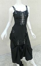 Lip Service Dress Victorian Goth Steampunk Victorian Black Gown Sz S