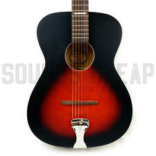 Recording King ROH-07 Dirty 30's Harmonella 000 Solid Acoustic Guitar - Sunburst