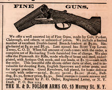 early ad FOLSOM ARMS CO FINE GUNS COLT PARKER CLABROUGH