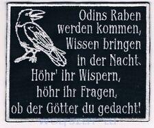 gestickter Aufnäher Odins Raben werden kommen 12x10cm Asatru Heiden Hugin Munin