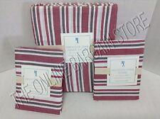 Pottery Barn Kids Lakehouse Stripe Duvet Cover Full Queen FQ Standard Shams Red