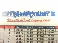 COBRA 150 GTL / COBRA 200 GTL-DX CB AMATEUR HAM RADIO FREQUENCY CHART