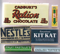 WW2 BRITISH CONFECTIONARY SET (EDIBLE REPRO) BUT SOLD AS DISPLAY ITEMS