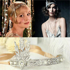 The Great Gatsby Headband Hat 1920's Hair Cap Silver Ivory Daisy Vintage Flapper