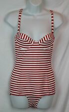 Pret-A-Surf for J.Crew Underwire Striped One-Piece Swimsuit 4 S Small Swim NWT