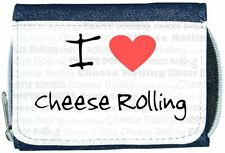 I Love Heart Cheese Rolling Denim Wallet