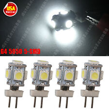 4x Pure White G4 5050 5-SMD LED Light  RV Marine Boat Bulb Camper Lamps DC 12V