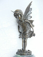GENUINE BRONZE. ART NOUVEAU STYLE FAIRY. FRENCH FOUNDRY MARK.