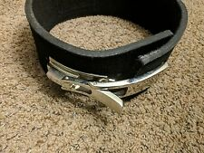 "Weight Lifting Bodybuilding Leather Lever Power Belt 4"" Wide size S  - NEW"