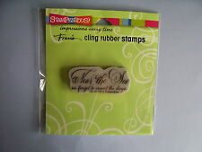 STAMPENDOUS RUBBER STAMPS CLING NEAR THE SEA STAMP NEW 2015