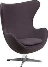 Flash Furniture Gray Wool Fabric Egg Chair with Tilt-Lock Mechanism ZB-18-GG NEW
