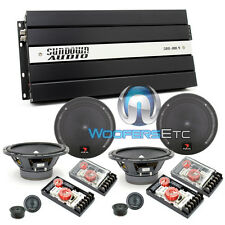 "pkg (2) FOCAL 165A1 6.5"" COMPONENT SPEAKERS + (1) SAX100.4V2 4-CHANNEL AMPLIFIER"