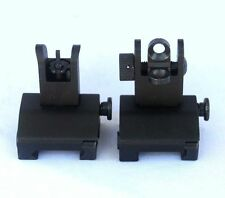 tactical Flip Up Front Rear Sights Set for Picatinny Rails and Flattop