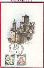 ITALIA MAXIMUM MAXI CARD 1987 LA ROCCA CASTIGLIONE DELLA PESCAIA GR ANNULLO B318