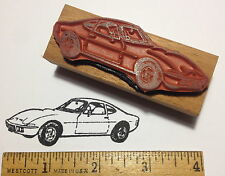 1970's OPEL GT Sports Car RUBBER STAMP (beautiful baby corvette!) 1972