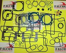 Harley Evo 1340 Big Twin Top End+Base FULL Gasket Kit w/Carbon+Teflon Head 84-91