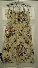 Shabby Chic SANDERSON window Length floral Cabbage rose curtains vintage old!!!!