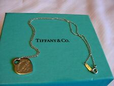 "Authentic .925 Sterling Silver TIFFANY & CO. 16"" ""Return to"" heart necklace"