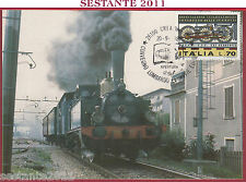 ITALIA MAXIMUM MAXI CARD CONVEGNO LOMBARDO FERROVIE EUROPEE 1988 200.05 B138