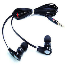 Earphones Black Hands Free Microphone Headset 3.5mm Earbud For SAMSUNG NOKIA HTC