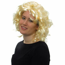 Women's Sexy Medium Curly Blonde Wig Fancy Dress Party Style Full Wig