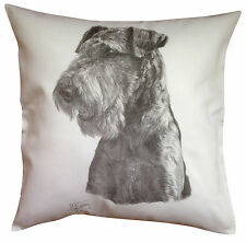 Airedale Terrier MS Breed of Dog Cotton Cushion Cover - Perfect Gift