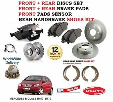 FOR MERCEDES B150 B170 2005-  FRONT + REAR BRAKE DISCS SET + PADS + SHOES SENSOR