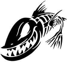 2 Aufkleber Angry Fish 9 Fisch Auto Sticker Decal 17 Cm Tuning JDM