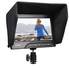 New HD On Camera Video Field Monitor Kit 1080P DSLR HDMI VGA W/Sony F970 Adapter