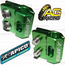 Apico Green Brake Hose Brake Line Clamp For Kawasaki KX 100 2014 Motocross Endur