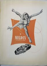 original 1954 vintage print ad MILDIA Swiss watch watchmaking MID CENTURY ART