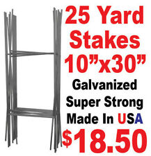 """25pc """"H"""" Wire 30"""" Wire Step Stakes - Yard Sign Wire Stands - Political Campaigns"""