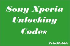 SONY XPERIA - Z3 Z4 Z2 C3 Z M2 E3 Z1 Z5  - UNLOCK CODES - UK / IRELAND ONLY