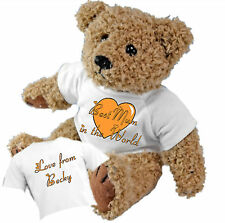 Best Mum in the World Teddy Bear - Personalised with a Message Mother's Day Gift