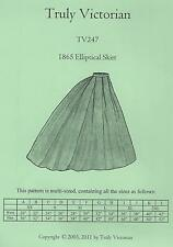 Schnittmuster Truly Victorian TV 247: 1865 Elliptical Skirt